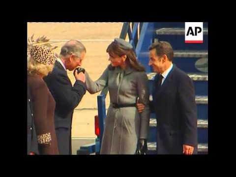 President Sarkozy begins state visit to   UK