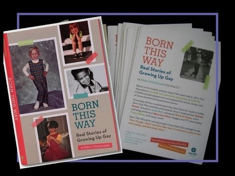 "Book trailer: ""Born This Way: Real Stories of Growing Up Gay"""