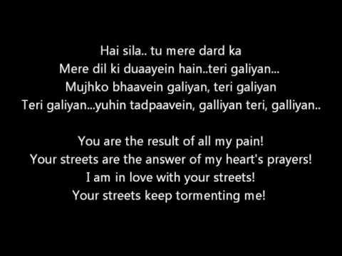 Galliyan From Ek Villain Lyrics With Translation