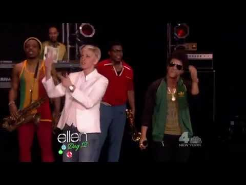 (2012-12-18) The Ellen Show - Locked Out Of Heaven Performance By Bruno Mars video