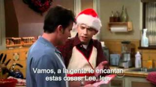 Two and a half men: Charlie leyendo carta de Alan. (Sub en español)