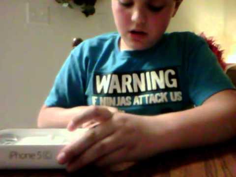 Unboxing iPhone 5c blue 8gb