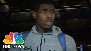 UCLA Basketball Players Return After China Shoplifting Arrest | NBC News