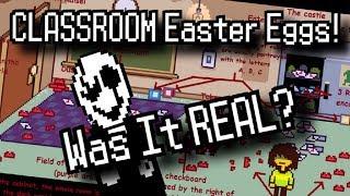 DELTARUNE - Old Classroom Easter Eggs   Dark World NOT Real? #GameTheory