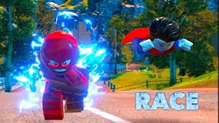 LEGO DC Villains: Flash vs Superman Race!! (Justice League)