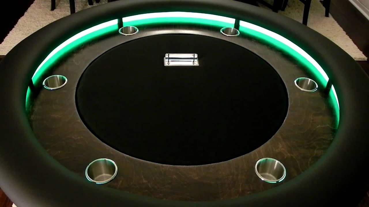 poker table plans round
