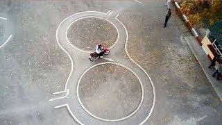 Hướng dẫn thi bằng lái xe máy A1 - Đi vòng số 8