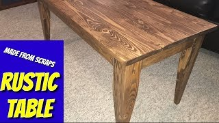 Children's rustic table- coffee table- easy DIY project