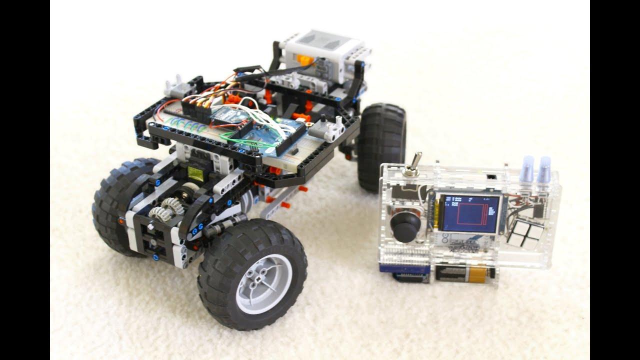 Diy rc handheld arduino servo powered lego youtube