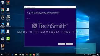 windows 10 format ve kurulum