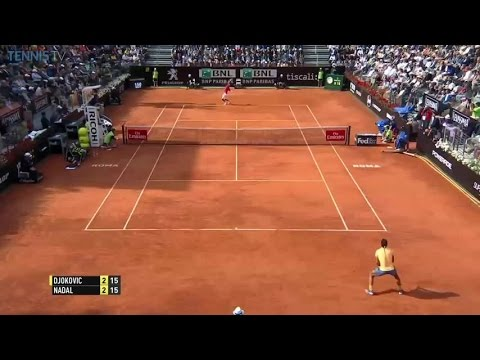 Nadal sliced drop vs. Djokovic, Rome 2016 QF