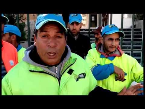 تصريحات عمال النظافة خلال وقفتهم الاحتجاجية