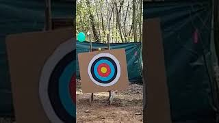 William tell style, shooting the apple