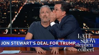 Jon Stewart Is Ready To Negotiate With Donald Trump