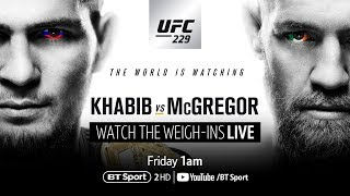 Live: UFC 229 weigh-ins - Khabib v McGregor