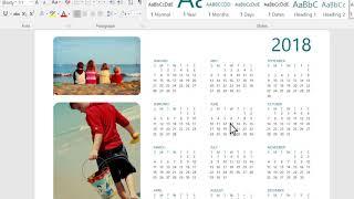 "Create an ""Any Year"" calendar in Word"