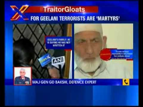 NewsX Exclusive: For Geelani terrorists are 'Martyrs'