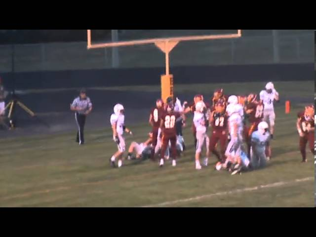8-30-13 - Mikey Gutierrez scores the 1st TD of the season (Brush 6, Wray 0)