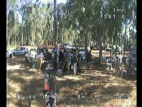 QUADCOPTER FPV Flight ILANOT FOREST IARC Event 5/5/2012 (part 1/2)