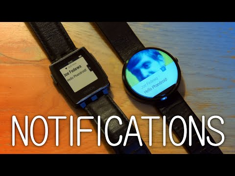 New Pebble Notifications vs Android Wear