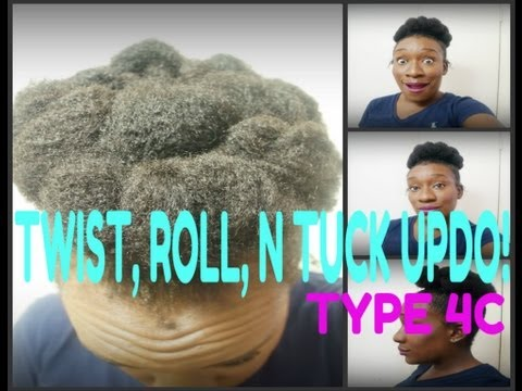 Natural Hair Protective Style Week 4: Twist, Roll, and Tuck Updo