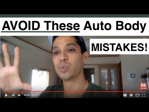 BEWARE: Avoid The MOST Common Auto Body Newbie Mistakes!