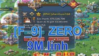 game lords mobile [F_9] zero 9m lính😱😱😱