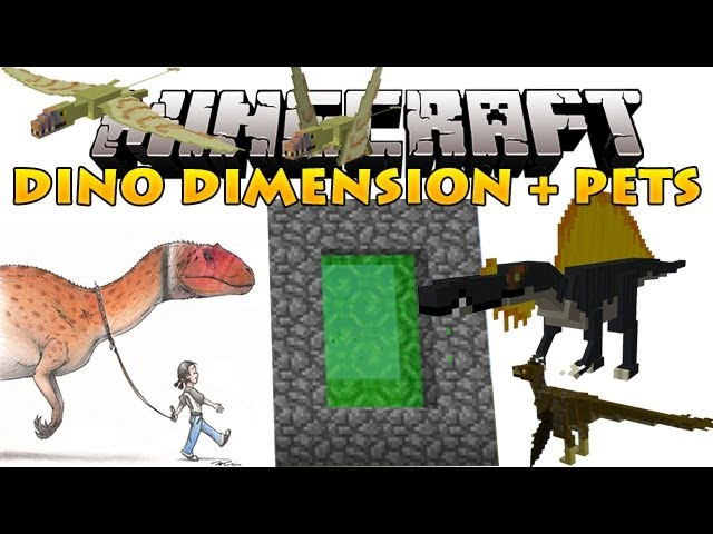 Minecraft Mods - Dino Dimension + Pet Dinosaurs!