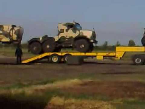 British Army Oshkosh - How not to unload them!