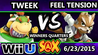 S@X 103 - Tweek (Bowser JR.) Vs Feel Tension (Fox) SSB4 Winners Quarters - Smash Wii U - Smash 4