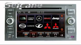 Double Din 2005 2006 2007 FORD C-MAX S-MAX GALAXY In Dash Radio DVD with GPS Bluetooth Music Ipod