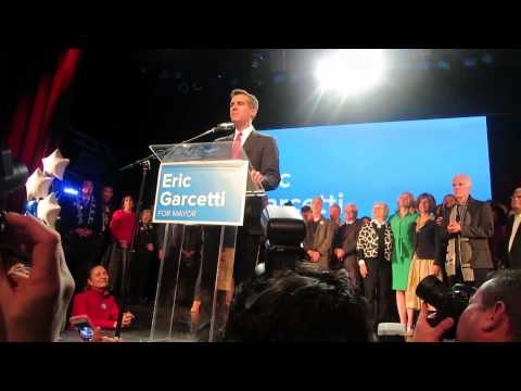 ERIC GARCETTI - LOS ANGELES MAYORAL ELECTION NIGHT 2013