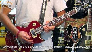 Epiphone Les Paul Tribute Plus in Black Cherry Demo @ PMT