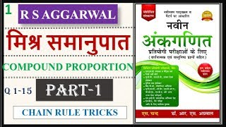 RS AGGARWAL COMPOUND PROPORTION : PART-1 || मिश्र समानुपात || SSC | CTET | BANK PO | RRB  | RAILWAY