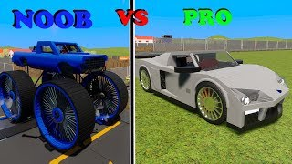 MASSIVE LEGO Cars, Trucks & Hot Rods vs. Train - Brick Rigs Gameplay - Lego Toy Destruction