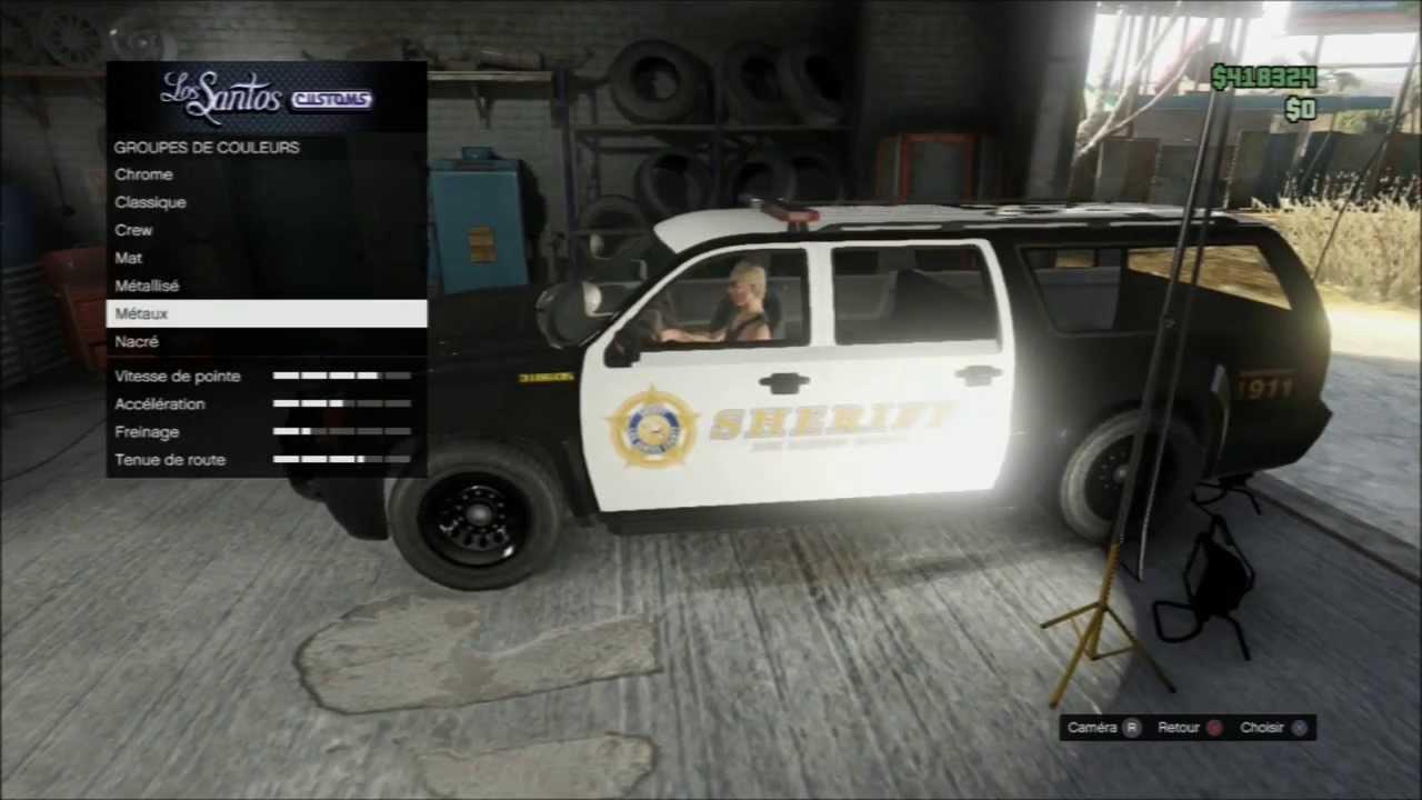 gta v online avoir le suv sheriff 4x4 de police youtube. Black Bedroom Furniture Sets. Home Design Ideas