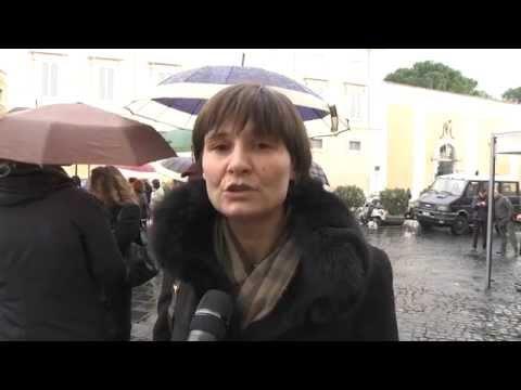 Pensioni - Silvana Comaroli protesta davanti alla consulta