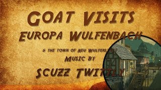 Goat Visits Europa Wulfenbach in Second Life