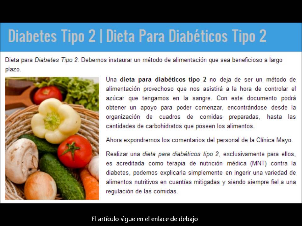Diabetes Tipo 2 | Dieta Diabetes Tipo 2 - YouTube