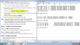 Packet Tracer 6.4.1.5 - Configuring IPv4 Route Summarization - Scenario 1  - CCNA 2 - Chapter 6