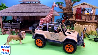 Schleich Wildlife Safari Animal Rescue Truck plus Fun Animals Toys For Kids