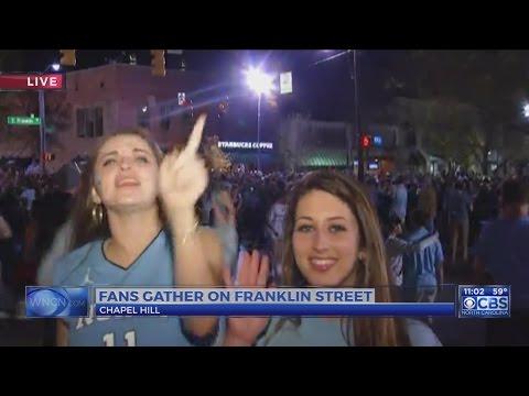 UNC fans storm Franklin Street following Final Four win