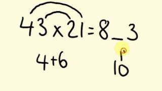 Fast Math Tricks - How to multiply 2 digit numbers up to 100 - the fast way!