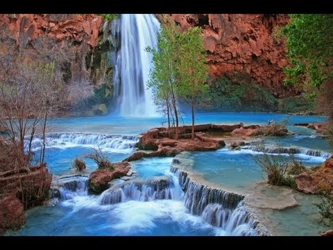 Havasupai Indian Waterfall Relaxation Video Video