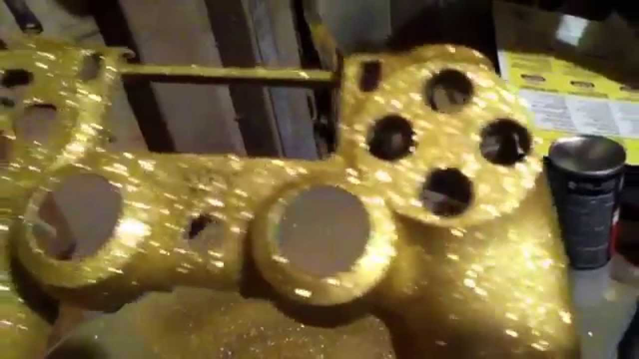 Ps4 Controller Gold Flake Ps4 Controller