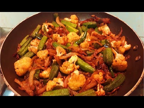 Bhindi Gobi Salan / Sabzi  l Quick & Easy Sabzi l Breakfast Or Lunch Box Recipe l Mrs. Norien