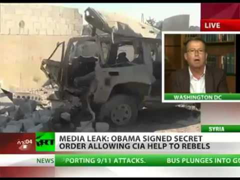 Syria CIVIL WAR - OBAMA signed SECRET order allowing CIA to HELP REBELS