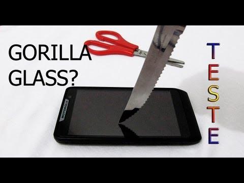 Motorola RAZR D3 Teste da Tela (Gorilla Glass)