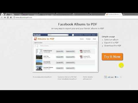Convierte tus fotos de Facebook en los álbumes PDF
