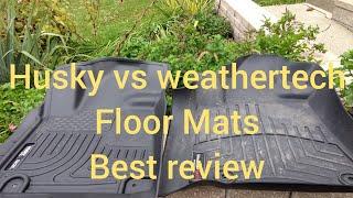 Weathertech vs husky floor mats, best floor liners and provides best coverage? Floor mats review